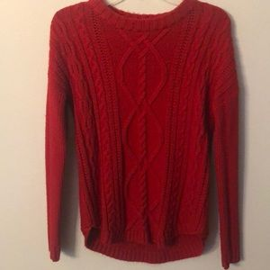 Merona red sweater